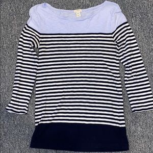 Purple, Navy & White Striped Jcrew T-shirt